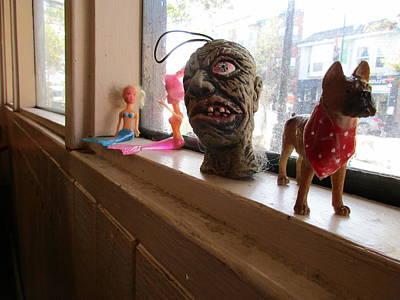 Fleetwood Mac - Cafe Windowsill #4 - Mermaids, Monster Head, and Dog by David Lovins