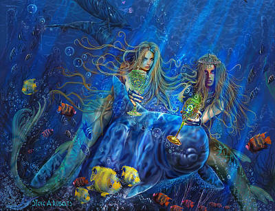 Print featuring the painting Mermaids Of Acqualainia by Steve Roberts