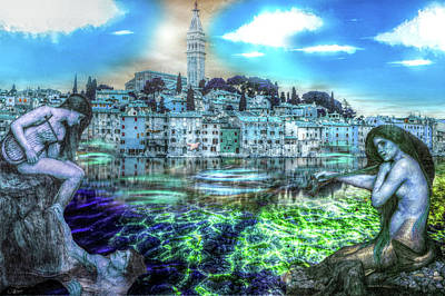 Mixed Media - Mermaids Of Rovinj by Bill Oliver