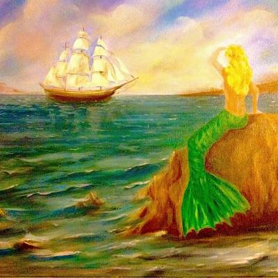 Painting - Mermaid's Promise by Anne Barberi