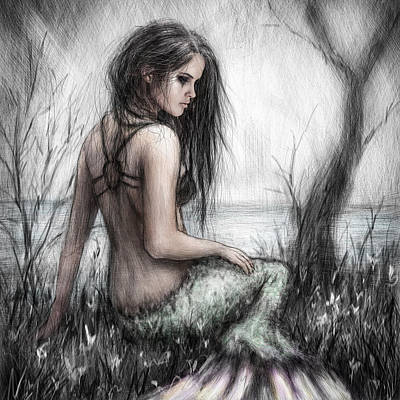 Mermaid Artwork Digital Art - Mermaid's Rest by Justin Gedak
