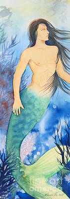 Painting - Merman by Frances Ku