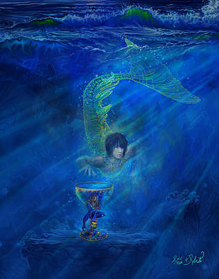 Mermaid Painting - Merman by Steve Roberts