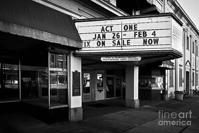 Photograph - Meroney Marquee 2 by Patrick M Lynch