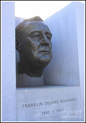 Photograph - Memorial  To President Franklin D. Roosevelt At Four Freedoms Park, Nyc by Dora Sofia Caputo Photographic Art and Design