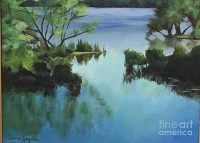 Painting - Merrimack River At Sunset by Claire Gagnon