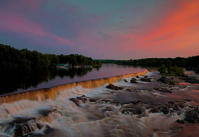 Photograph - Merrimack River Falls by John Forde