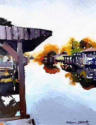 Painting - Merritt Island Canal In Fall  by Melissa Abbott