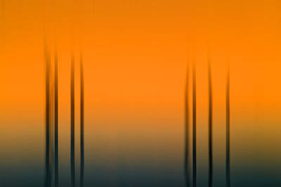 Photograph - Merritt Island Sunset Digital Abstracts Motion Blur  by Rich Franco