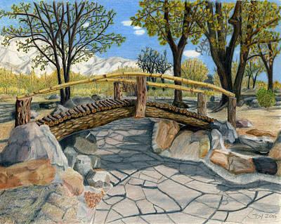 Historic Site Mixed Media - Merritt Park Bridge by Joy Lavery