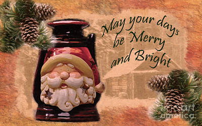 Digital Art - Merry And Bright 2015 by Kathryn Strick