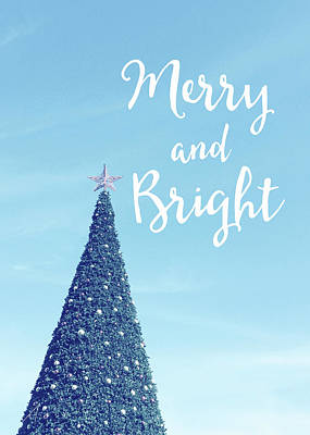 Tree Photograph - Merry And Bright - Art By Linda Woods by Linda Woods