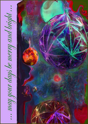 Merry And Bright Holidays Art Print