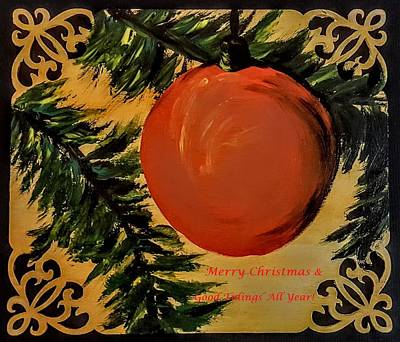 Painting - Merry Christmas                 77 by Cheryl Nancy Ann Gordon