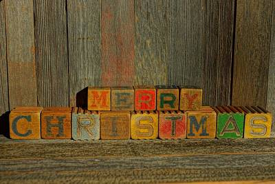 Photograph - Merry Christmas 1 by Steven Clipperton