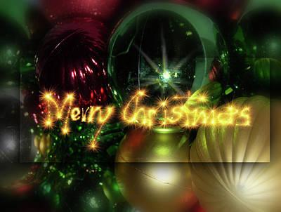 Photograph - Merry Christmas 2 by Leticia Latocki