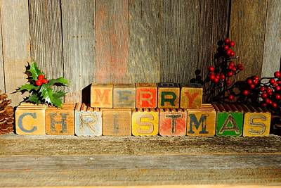 Photograph - Merry Christmas 2 by Steven Clipperton