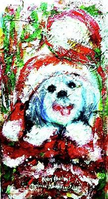 Painting - Merry Christmas 2010 by Wanvisa Klawklean