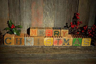 Photograph - Merry Christmas 3 by Steven Clipperton