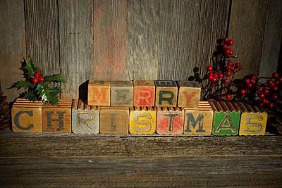 Photograph - Merry Christmas 3 by Steven Clipperton