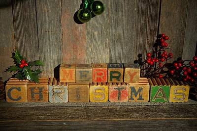 Photograph - Merry Christmas 4 by Steven Clipperton