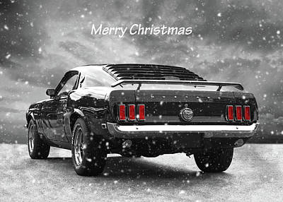 Photograph - Merry Christmas '69 Mustang by Gill Billington