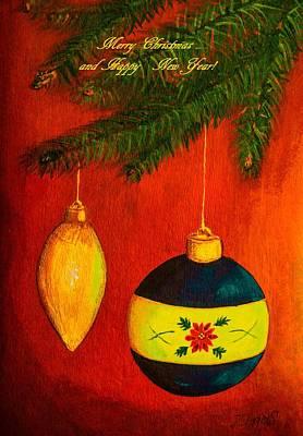 Merry Christmas And Happy New Year II Art Print by Zina Stromberg