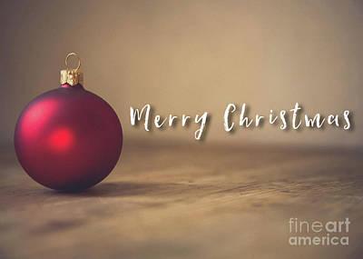 Photograph - Merry Christmas Ball Card by Edward Fielding