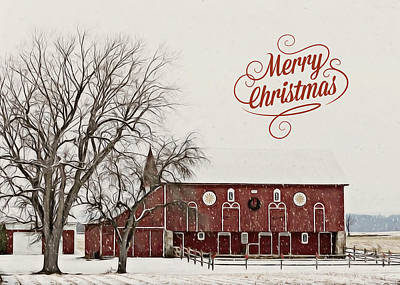 Photograph - Merry Christmas Barn by Brenda Conrad