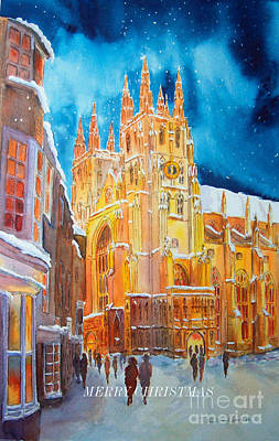 Painting - Merry Christmas Canterbury by Beatrice Cloake