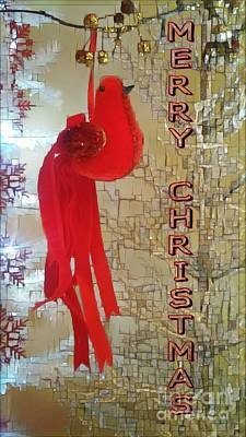 Photograph - Merry Christmas Cardinal by Jodie Marie Anne Richardson Traugott          aka jm-ART