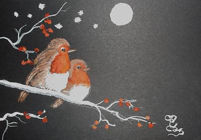 Painting - Merry Christmas by Carole Robins