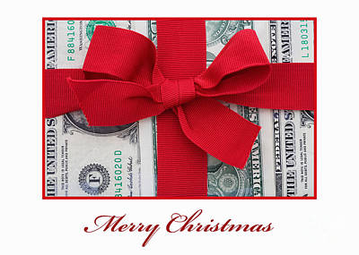 Photograph - Merry Christmas Cash Gift by Diane Macdonald