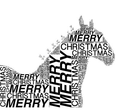 Photograph - Merry Christmas Clydesdale by Alice Gipson