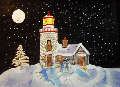 Stary Sky Painting - Merry Christmas  by Connie Valasco