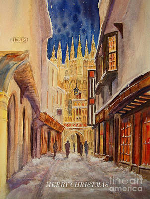 Painting - Merry Christmas From Canterbury by Beatrice Cloake