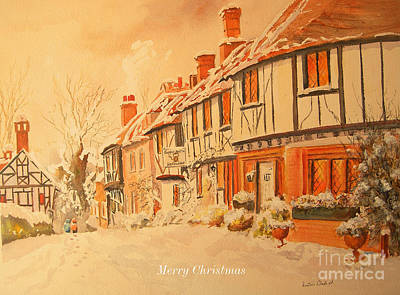 Painting - Merry Christmas From Chilham by Beatrice Cloake
