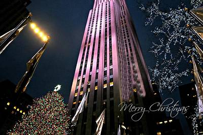 Photograph - Merry Christmas From New York City by Diana Angstadt