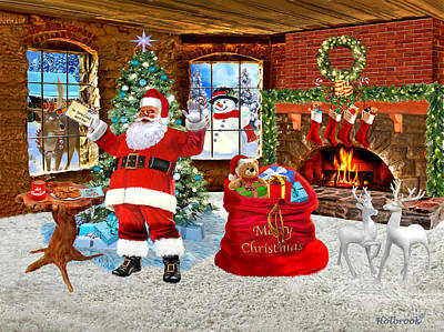 Digital Art - Merry Christmas From Santa by Glenn Holbrook