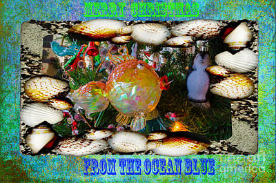 Photograph - Merry Christmas From The Ocean Blue by Donna Brown