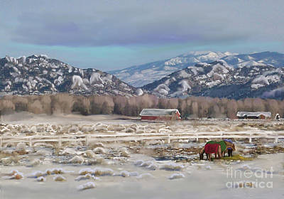 Merry Christmas From Wyoming Art Print by Dawn Senior-Trask