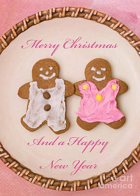 Photograph - Merry Christmas Gingerbread People by Diane Macdonald