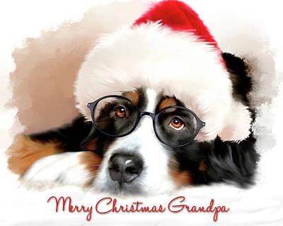 Mixed Media - Merry Christmas Grandpa by Mary Timman