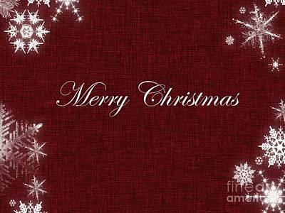 Digital Art - Merry Christmas Greeting Card 1  by Erika H