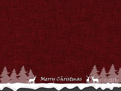 Digital Art - Merry Christmas Greeting Card 2 by Erika H