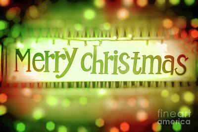 Photograph - Merry Christmas Greeting Card by Anna Om