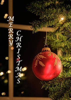 Photograph - Merry Christmas Greeting Card by Joni Eskridge