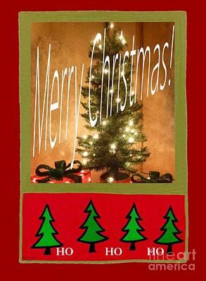 Photograph - Merry Christmas Hohoho by Barbie Corbett-Newmin