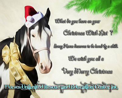 Digital Art - Merry Christmas Horses Unlimited by Walter Herrit