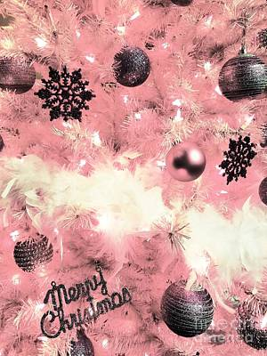 Photograph - Merry Christmas In Pink by Rachel Hannah